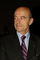 Alain Juppe , former Prime Minister of France at the  12th International Economic Forum of the Americas<br />                            Conference of Montreal<br /> Photo by Michel Karpoff / Images Distribution
