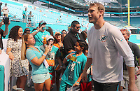Miami dolphins Quarterback Ryan Tannehill with the Fans Pre Game  on the 25th September 2016 at  the Hard Rock Stadium Miami Florida
