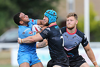 Matt Davis of London Broncos (centre) during the Kingstone Press Championship match between London Broncos and Sheffield Eagles at Castle Bar , West Ealing , England  on 9 July 2017. Photo by David Horn.