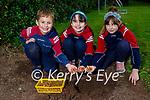 Scoil an Ghleanna in Dingle planting crocus bulbs presented to the school by the Dingle Rotary Club for their International's polio eradication campaign, l to r: Donacha Ó Beaglaoi and Amelia Ní Dhuabhda and Eve de Bhaillís