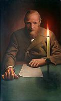 Fyodor Mikhaylovich Dostoyevsky (1821-1881)<br /> Artist: Vasilyev, Konstantin Alexeevich(1942-1976)<br /> Museum:Private Collection<br /> Method:Oil on canvas<br /> Created:1973<br /> School:Russia<br /> Trend in art:Modern