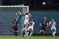 STANFORD, CA - November 21, 2014: Jane Campbell during the Stanford vs Arkansas women's second round NCAA soccer match in Stanford, California.  The Cardinal defeated the Razorbacks 1-0.
