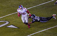 running back Saquon Barkley (26) of the New York Giants gegen free safety Rodney McLeod (23) of the Philadelphia Eagles - 09.12.2019: Philadelphia Eagles vs. New York Giants, Monday Night Football, Lincoln Financial Field