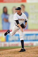 July 15, 2009:  Pitcher Josh Schmidt of the Trenton Thunder during the 2009 Eastern League All-Star game at Mercer County Waterfront Park in Trenton, NJ.  Photo By David Schofield/Four Seam Images