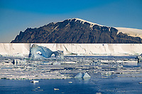 Icebergs in Front of Beaufort Island, Ross Sea, Antarctica