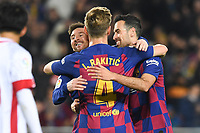 Lionel Messi celebrates after scoring a goal <br /> with Sergio Busquets,Ivan Rakitic<br /> 07/12/2019 <br /> Barcelona - Maiorca<br /> Calcio La Liga 2019/2020 <br /> Photo Paco Largo Panoramic/insidefoto <br /> ITALY ONLY