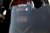 Sept. 23, 2011; Ennis, TX, USA: NHRA top fuel dragster driver Larry Dixon during qualifying for the Fall Nationals at the Texas Motorplex. Mandatory Credit: Mark J. Rebilas-
