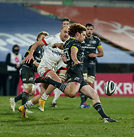 2nd January 2021 | Ulster vs Munster <br /> <br /> Ben Healy during the PRO14 Round 10 clash between Ulster Rugby and Munster Rugby at the Kingspan Stadium, Ravenhill Park, Belfast, Northern Ireland. Photo by John Dickson/Dicksondigital