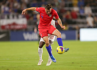 ORLANDO, FL - NOVEMBER 15: Jordan Morris #11 of the United States moves with the ball during a game between Canada and USMNT at Exploria Stadium on November 15, 2019 in Orlando, Florida.