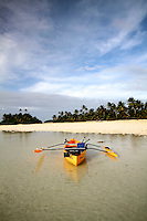 Outrigger Canoe on South Island, Cocos Islands, Indian Ocean