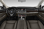 Stock photo of straight dashboard view of 2015 BMW 5 Series 535i Gran Turismo Luxury Line 5 Door Hatchback Dashboard