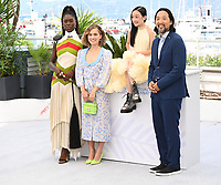 CANNES, FRANCE. July 8, 2021: Jodie Turner-Smith, Haley Lu Richardson, Malea Emma Tjandrawidjaja & Kogonada at the photocall for After Yang at the 74th Festival de Cannes.<br /> Picture: Paul Smith / Featureflash