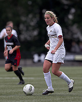 Boston College forward/midfielder Kate McCarthy (21) looks to pass. Boston College defeated North Carolina State,1-0, on Newton Campus Field, on October 23, 2011.