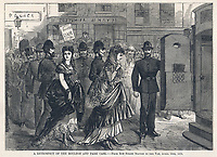 The Boulton & Park case ; the two men (in drag) are arrested for incitement to commit an unnatural offence / The day's doings vol 2 , 20 May 1871 page 264 / 10 April 1870