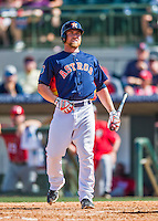 15 March 2016: Houston Astros infielder Nolan Fontana, ranked the 29th Top Prospect in the Astros organization for 2016 by Baseball America, in action during a Spring Training pre-season game against the Washington Nationals at Osceola County Stadium in Kissimmee, Florida. The Astros fell to the Nationals 6-4 in Grapefruit League play. Mandatory Credit: Ed Wolfstein Photo *** RAW (NEF) Image File Available ***