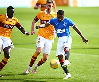 27th September 2020; Fir Park, Motherwell, North Lanarkshire, Scotland; Scottish Premiership Football, Motherwell versus Rangers; Jermiane Defoe of Rangers shoots on goal