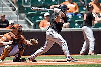 Oklahoma State  leadoff hitter Davis Duren against the Texas Longhorns on Sunday April 25th, 2010 at UFCU Dish-Falk Field in Austin, Texas.  (Photo by Andrew Woolley / Four Seam Images)