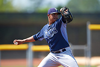 Tampa Bay Rays Armando Bastardo (13) during a minor league Spring Training intrasquad game on April 1, 2016 at Charlotte Sports Park in Port Charlotte, Florida.  (Mike Janes/Four Seam Images)