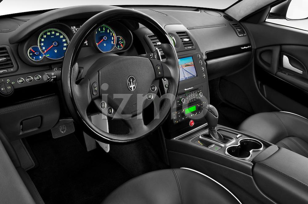 High angle dashboard view of a 2009 Maserati Quattroporte S Sedan