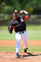 Miami Marlins pitcher Sam Alvis (31) during a minor league spring training game against the St. Louis Cardinals on March 31, 2015 at the Roger Dean Complex in Jupiter, Florida.  (Mike Janes/Four Seam Images)