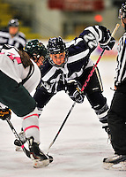 29 January 2012: University of New Hampshire Wildcat defenseman Caroline Broderick, a Freshman from Marblehead, MA, in action against the University of Vermont Catamounts at Gutterson Fieldhouse in Burlington, Vermont. The Lady Cats edged out the Lady Wildcats 2-1 to split their Hockey East twin-game weekend series. Mandatory Credit: Ed Wolfstein Photo