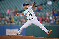 Buffalo Bisons pitcher Corey Copping (70) during an International League game against the Syracuse Mets on June 29, 2019 at Sahlen Field in Buffalo, New York.  Buffalo defeated Syracuse 9-3.  (Mike Janes/Four Seam Images)