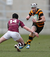 CAI vs RBAI | Tuesday 3rd March 2015<br /> <br /> Andrew McGregor during the 2015 Ulster Schools Cup Semi-Final between Coleraine Inst and RBAI at the Kingspan Stadium, Ravenhill Park, Belfast, Northern Ireland.<br /> <br /> Picture credit: John Dickson / DICKSONDIGITAL
