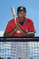 Kannapolis Intimidators outfielder Bryce Bush (25) poses for a photo prior to the game against the Lexington Legends at Kannapolis Intimidators Stadium on May 15, 2019 in Kannapolis, North Carolina. The Legends defeated the Intimidators 4-2. (Brian Westerholt/Four Seam Images)