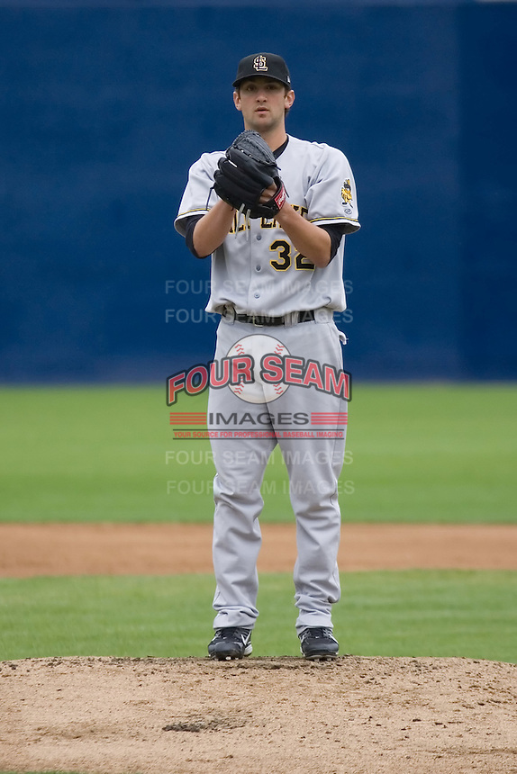 June 1, 2008: Salt Lake Bees' Nick Adenhart toes the rubber in a Pacific Coast League game against the Tacoma Rainiers at Cheney Stadium in Tacoma, Washington.