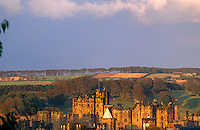 An unusual view of the castle, looking down from the town of Alnwick