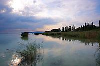 Lake Balaton from Szigliget marina at sunset - Hungary