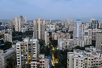 INDIA, Mumbai, skyscraper in suburb Goregoan