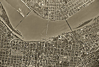 historical aerial photograph Louisville, Kentucky, 1949