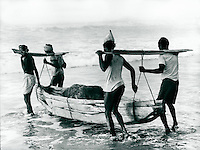 Fischer in Puri, Indien 1974