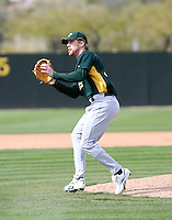 Josh Outman - Oakland Athletics - 2009 spring training.Photo by:  Bill Mitchell/Four Seam Images