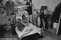 Often you'd find lots of people in the bedrooms just hanging out, Summerhill school, Leiston, Suffolk, UK. 1968.