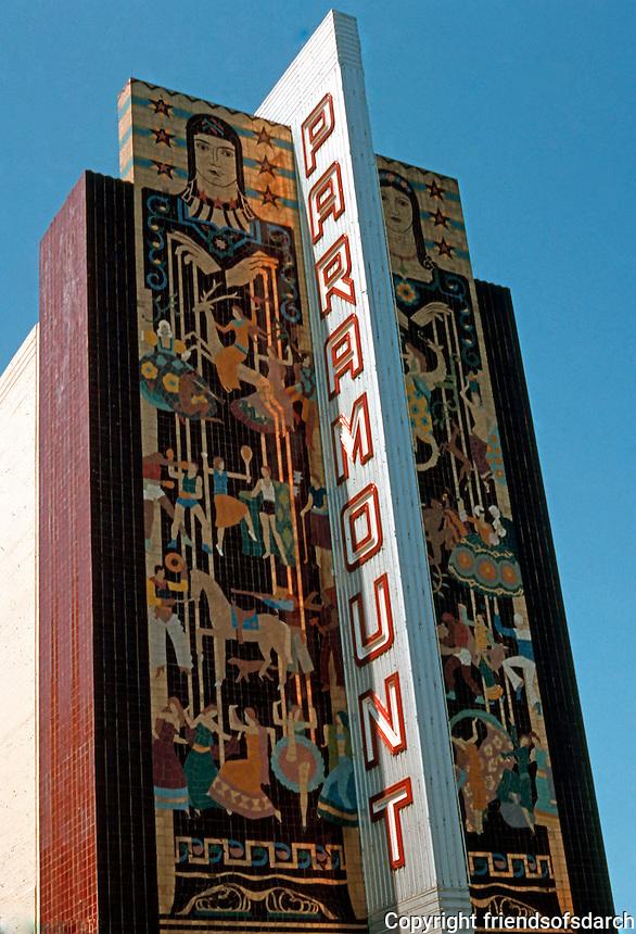 Movie Theatre: Oakland, CA. Paramount Theater, 2025 Broadway, 1931. Miller & Pflueger.  Photo '78.