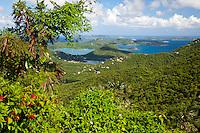 View of Coral Bay.St. John, US Virgin Islands
