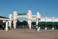 5th September 202, Louisville, KY, USA;  View of the empty entrance before the 146th Kentucky Derby on September 5, 2020 at Churchill Downs in Louisville, KY.