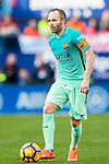 Andres Iniesta Lujan of FC Barcelona in action during their La Liga match between Atletico de Madrid and FC Barcelona at the Santiago Bernabeu Stadium on 26 February 2017 in Madrid, Spain. Photo by Diego Gonzalez Souto / Power Sport Images