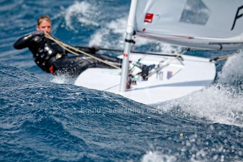 ISAF Sailing World Cup Hyères - Fédération Française de Voile. Laser Radial, Mathilde De Kerangat.