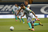 Adam Armstrong of Blackburn Rovers and Shaun Hutchinson of Millwall during Millwall vs Blackburn Rovers, Sky Bet EFL Championship Football at The Den on 14th July 2020