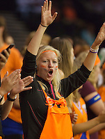September 12, 2014, Netherlands, Amsterdam, Ziggo Dome, Davis Cup Netherlands-Croatia, Dutch supporter<br /> Photo: Tennisimages/Henk Koster
