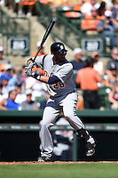Detroit Tigers outfielder J.D. Martinez (28) during a Spring Training game against the Baltimore Orioles on March 4, 2015 at Ed Smith Stadium in Sarasota, Florida.  Detroit defeated Baltimore 5-4.  (Mike Janes/Four Seam Images)