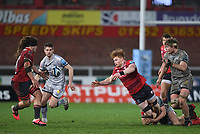 2nd January 2021; Kingsholm Stadium, Gloucester, Gloucestershire, England; English Premiership Rugby, Gloucester versus Sale Sharks; Seb Nagle-Taylor offloads out of the tackle to pass to Jordy Reid of Gloucester
