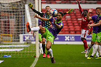 3rd October 2020; City Ground, Nottinghamshire, Midlands, England; English Football League Championship Football, Nottingham Forest versus Bristol City; Zak Vyner of Bristol City clears the ball to save a corner