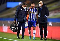 30th April 2021; Dragao Stadium, Porto, Portugal; Portuguese Championship 2020/2021, FC Porto versus Famalicao; Jesus Corona of Porto leaves the pitch with an injury