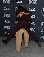 2020 FOX WINTER TCA: (L-R) THE MASKED SINGER panelists Ken Jeong and Nicole Scherzinger arrive at the FOX WINTER TCA ALL-STAR PARTY during the 2020 FOX WINTER TCA at the Langham Hotel, Tuesday, Jan. 7 in Pasadena, CA. © 2020 Fox Media LLC. CR: Scott Kirkland/FOX/PictureGroup