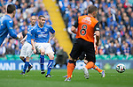 St Johnstone v Dundee United....17.05.14   William Hill Scottish Cup Final<br /> James Dunne plays the ball through John Rankin<br /> Picture by Graeme Hart.<br /> Copyright Perthshire Picture Agency<br /> Tel: 01738 623350  Mobile: 07990 594431