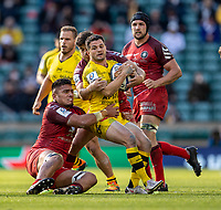 22nd May 2021; Twickenham, London, England; European Rugby Champions Cup Final, La Rochelle versus Toulouse; Brice Dulin of La Rochelle is tackled